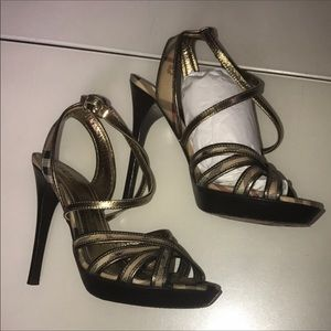 Burberry Shoes - Gold Burberry shoes